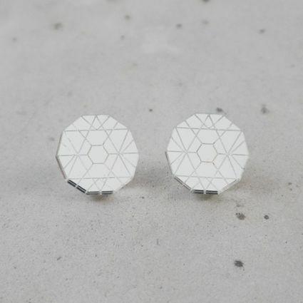 Circle - Earrings, Silver