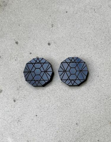 Circle - Earrings, Black