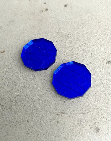 CIRCLE - earrings, blue