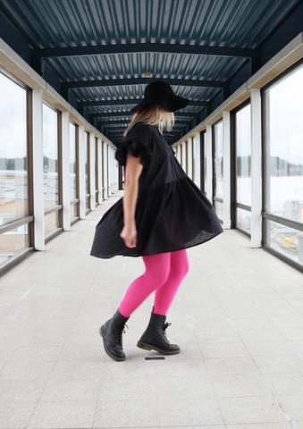 FLIRTY- DRESS FRILLA, BLACK