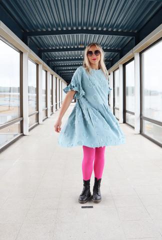 FLIRTY- DRESS, BLUE FLOWER