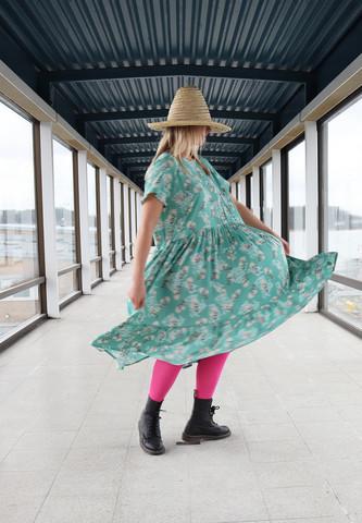 LUSH- DRESS, MINT CHERRY  BLOSSOM
