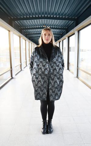 COAT DRESS - GLITTER BLACK