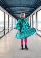 LUSH- DRESS BOW COLLAR, GLITTER JADE