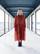 FLOWY- DRESS LONG, ORANGE LEO