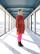 FLOWY- DRESS, ORANGE LEO