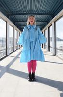 LUSH- DRESS BOW COLLAR, LIGHT BLUE