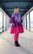 LUSH- DRESS BOW COLLAR, LILA STRIPE
