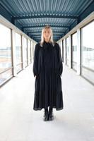 FLOWY - LONG DRESS, BLACK
