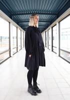 FLOWY- DRESS, BLACK