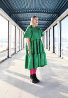 LUSH- DRESS, GLITTER GREEN