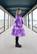 LIMITED EDTION: LUSH- DRESS BOW COLLAR, GLITTER PURPLE