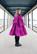 LUSH- SILK DRESS BOW COLLAR, PURPLE