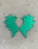 WINGS - EARRINGS, Green