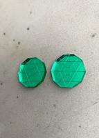 CIRCLE - earrings, green
