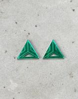 Triangle - Earrings, GREEN
