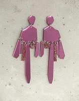 DROP - EARRING, GLITTER Pink