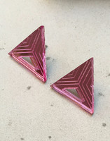 Triangle - Earrings, Pink