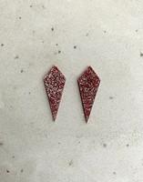 ARROW - earrings, Pink glitter