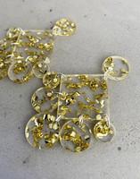 DANGLE - CIRCLE EARRING, GOLD GLITTER