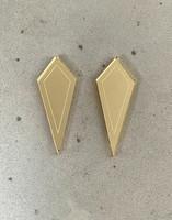 ARROW - earrings, gold