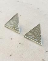 Triangle - Earrings, Silver