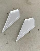 ARROW - earrings, silver