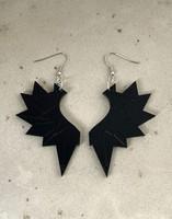 WINGS - Earrings, BLACK