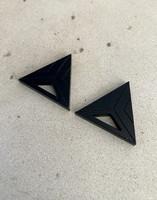 Triangle - Earrings, Black