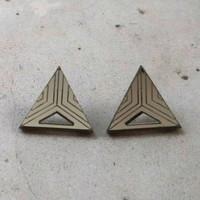 Triangle - Earrings, Grey