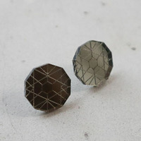 Circle - Earrings, Grey