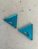 Triangle - Earrings, Petrol