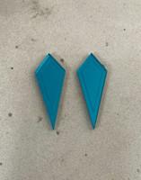 ARROW - earrings, petrol