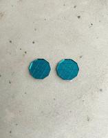 CIRCLE - earrings, petrol