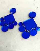 DANGLE - CIRCLE EARRING, blue