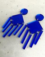 DANGLE - EARRING, blue