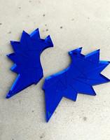 WINGS - earrings, blue