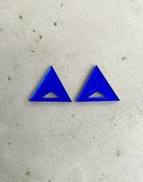 Triangle - Earrings, blue