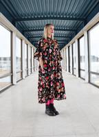 FLIRTY-DRESS long, FLOWER