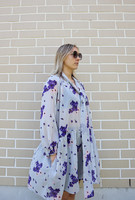 FLOWY - DRESS, SILK GREY