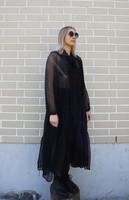 FLOWY- SILK DRESS, LONG BLACK