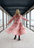 FLOWY- DRESS LONG, LIGHT PINK CHERRY BLOSSOM