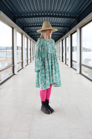 LUSH - BABYDOLL DRESS, MINT CHERRY BLOSSOM