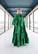 LUSH- SILK EVENING DRESS, GREEN