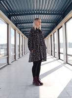 SHIRT DRESS- LEO GREY