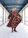 FLIRTY-DRESS long, AUTUMN FLOWER