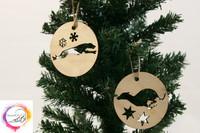 Joulukoristeet vanerista