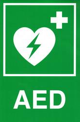 AED-tarra, 20 x 30 cm