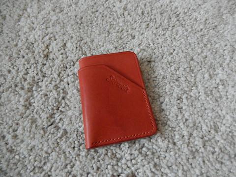 Korttikotelo mini, lohenpunainen