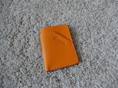 Korttikotelo mini, oranssinkeltainen